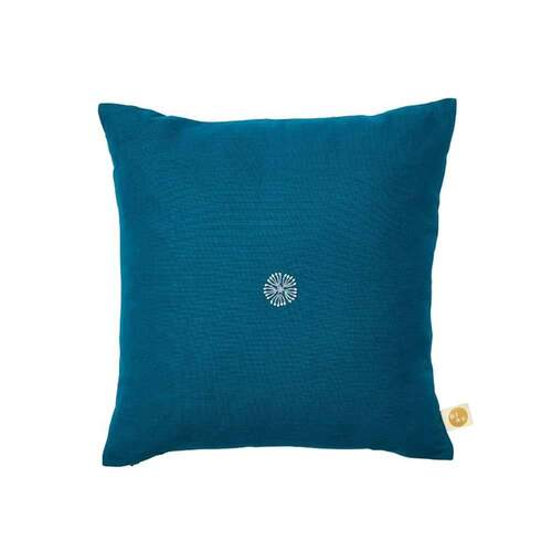 Frida Bloom Cushion - Turquoise