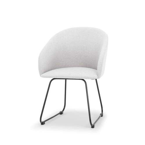 Connect Designer Dining Chair - Pale Grey