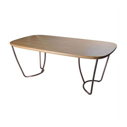 Loop Dining Table Copper/Oak - 185cm