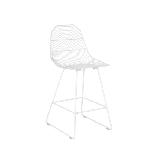 Arrow Bar Stool 65cm - White