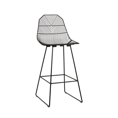 Arrow Bar Stool 75cm - Black