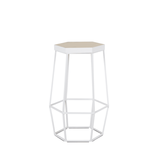 Hex Stool 65cm - White
