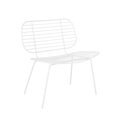 Racquet Easy Chair - White