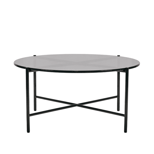 Bijoux Translucent Round Coffee Table - Smoke
