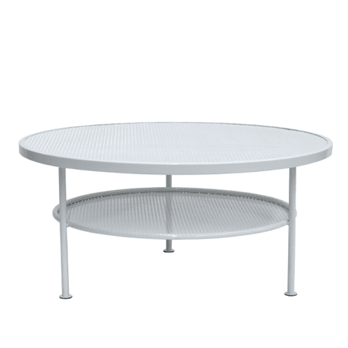 Havana Round Coffee Table - Gloss White
