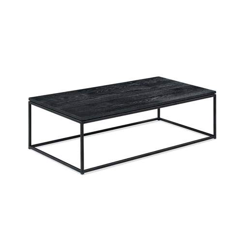 Simple Rectangle Coffee Table - Black