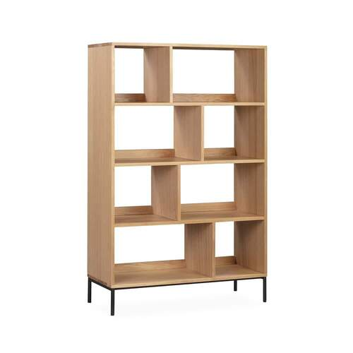 Enhance Open Bookcase Large - Oak