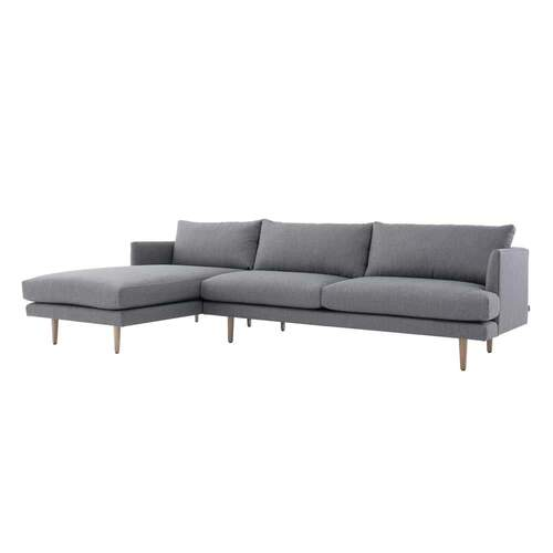 Tribute Designer 3 Seater Sofa with LHF Chaise - Grey