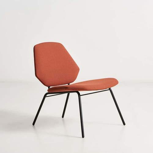 Lean lounge chair - Rust