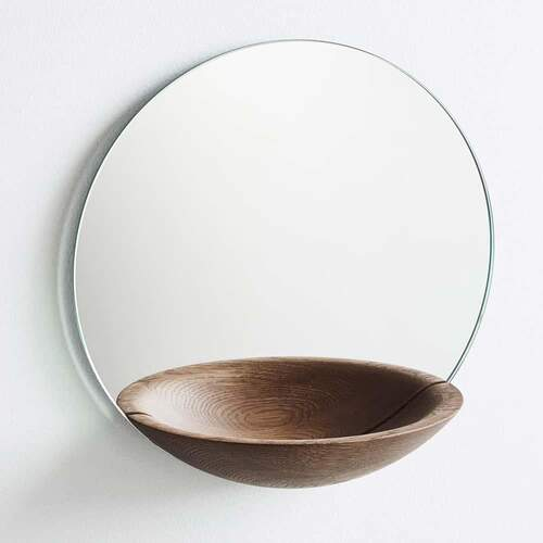 Pocket Mirror Large - Smoked Oak